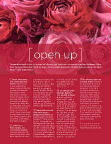 LIVE LIKE A FLOWER: Open Up
