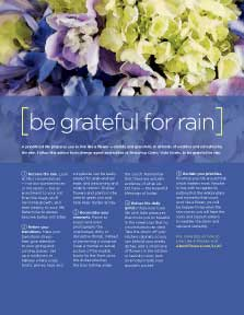 LIVE LIKE A FLOWER: Be Grateful for Rain