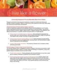 LIVE LIKE A FLOWER - Flower Research