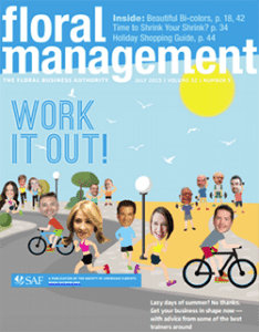 Floral Management July issue cover