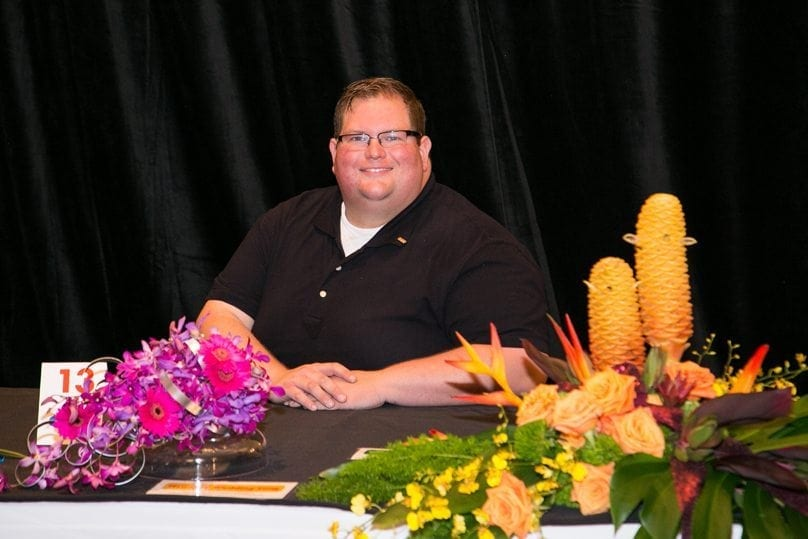 "Paul Latham, AIFD, the creative/director and co-owner of Fleur de Lis Events & Design in Louisville, Kentucky, was first runner-up. He also placed second in ""Blue Suede Shoes"" and """"Hawaiian Wedding Song,"" and third in ""Crying in the Chapel"""