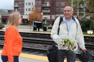 """In the suburbs of Chicago, FTD teamed up with Phillip's Flowers to hand out 3,000 bouquets Wednesday morning at the Downers Grove Metra station and Wednesday evening at the Lombard. """"It's awesome,"""" one happy recipient said to reporters with the Daily Herald, who chronicled the giveaway. """"I'm a huge flower person."""""""