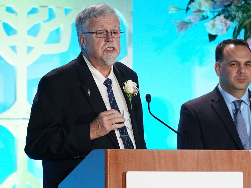 SAF honored Paul A. Thomas, Ph.D., a professor in the University of Georgia's horticulture department, on Sept. 15 during SAF Palm Springs 2018.