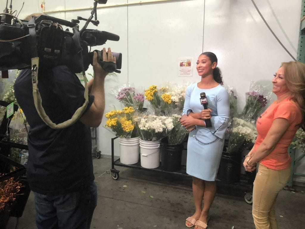 """In Phoenix, Arizona Family Florist also scored high-profile news coverage for its efforts, with a visit from Fox 10'S """"Phoenix Morning Show."""" Co-owner Cheryl Dunham explained the concept behind Petal It Forward live, giving context to the broader national effort"""