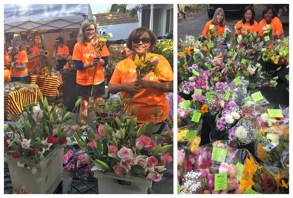 Valerie Lee Ow of J. Miller Flowers and Gifts in Oakland, California, sent her local newspaper a press release and photos from her Petal It Forward event last year as an invitation to cover her event this year.