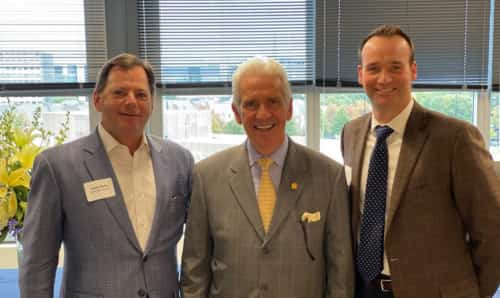 SAF's senior lobbyist Joe Bischoff, Ph.D., (right) recently met with Rep. Jim Costa (D-California) to discuss floral industry issues. (Pictured with Louie Perry of the United Egg Producers.)