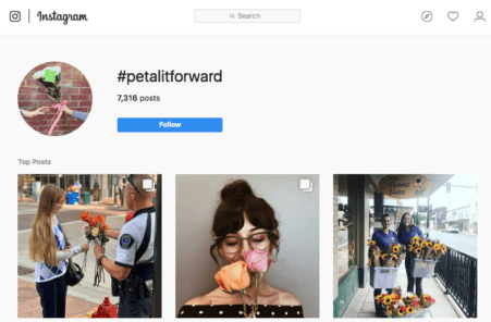 Through social media and industry news stories, SAF emphasized to Petal It Forward participants the importance of tagging the flowers handed out with the #petalitforward hashtag, as well as the need to post on social media before, during and after the event