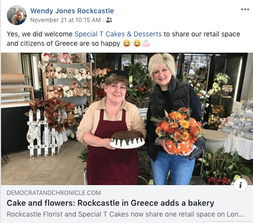 Rockcastle Florist started subletting one-third of the retail space at its Rochester, New York, location to a local baker who has increased foot traffic in droves. (photo credit: Mary Chao)