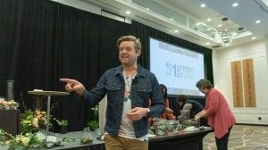 """During """"Design Hacks and Smart Services to Delight Consumers,"""" Derek C. Woodruff, AIFD, CFD, CF, PFCI of Floral Underground in Traverse City, Michigan, talked about the allure of in-store workshops and experiences for customers"""