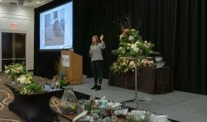 """During """"What's Up (and Coming) with Social Media,"""" speaker Crystal Vilkaitis, Social Edge talked about the changing landscape of social media, and what that means for business owners"""