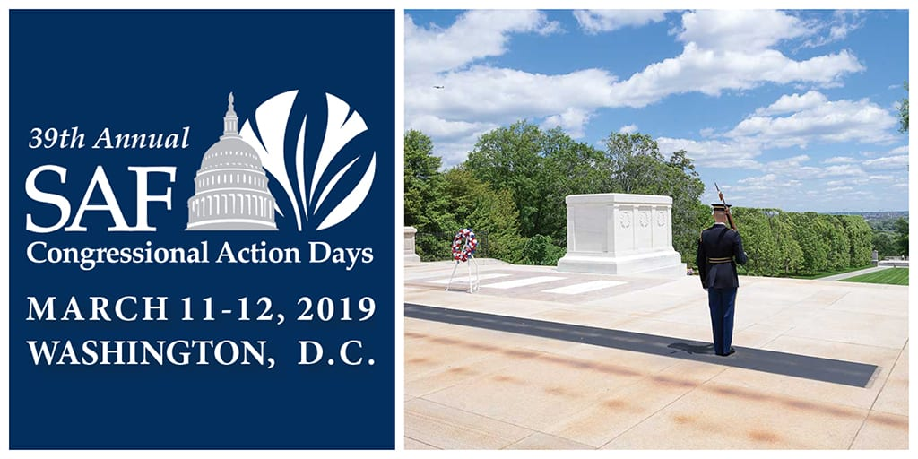 SAF's 39th Annual Congressional Action Days features a visit to Arlington National Cemetery, where participants will explore America's rich history, witness the time-honored ceremonies and take in the scenic grounds and landscapes.