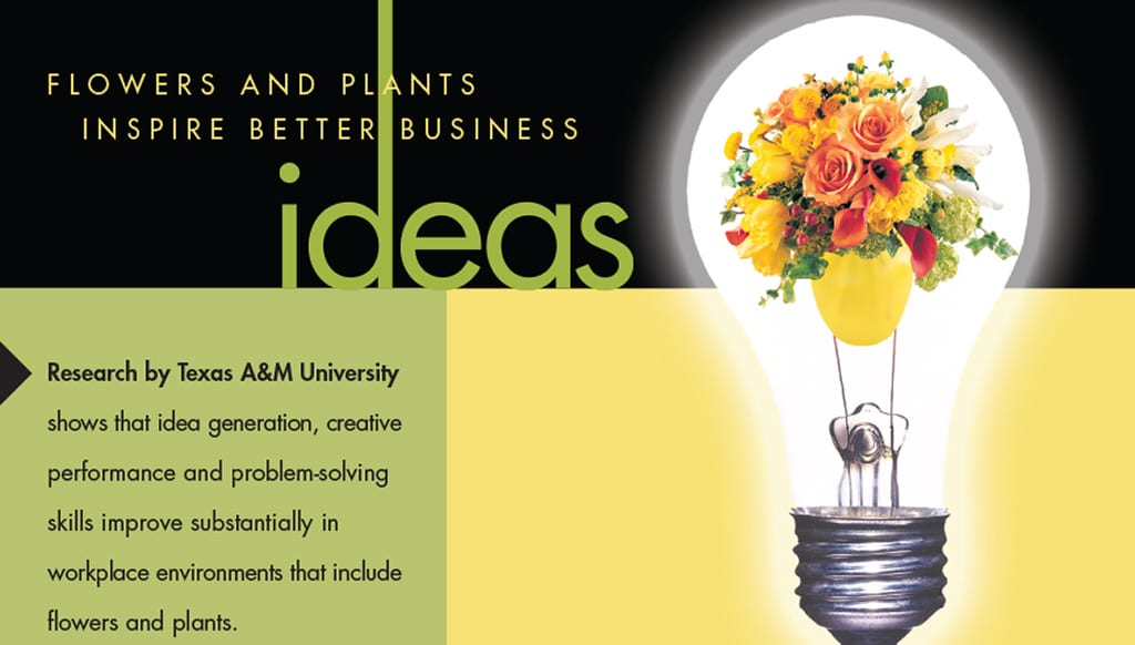 idead post card cover with a lightbulb