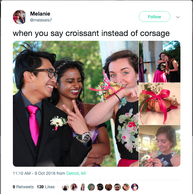 Croissant Corsage goes viral on twitter