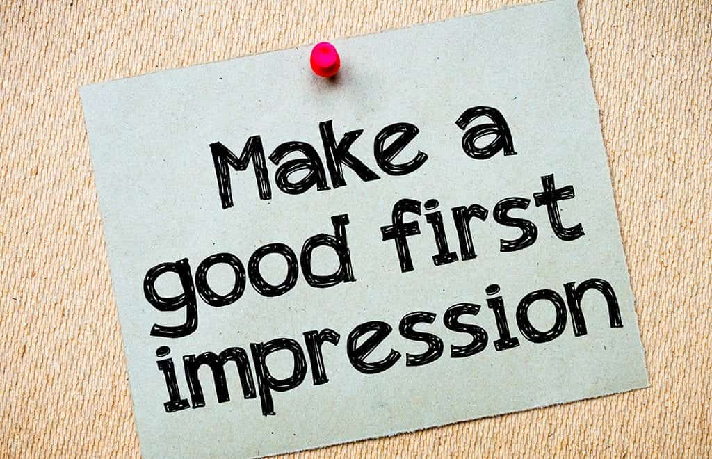 first impression posted note