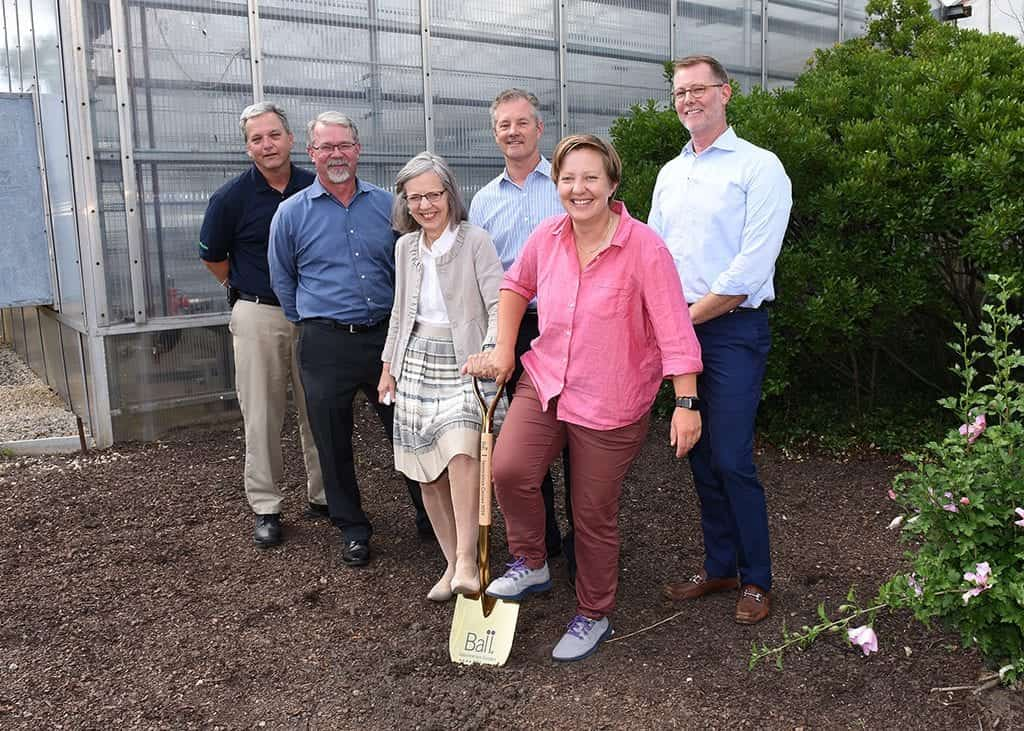 Jim Kerwin, Paul Chemler, Anna Ball, Todd Frauendorfer, Susannah Ball and Matt Mouw at the Groundbreaking Ceremony this past summer.