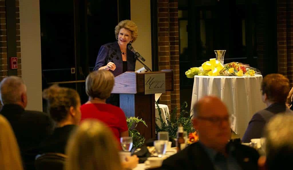Earlier this month, Sen. Debbie Stabenow (D-Michigan)was inducted into the Michigan Floral Foundation Hall of Fame