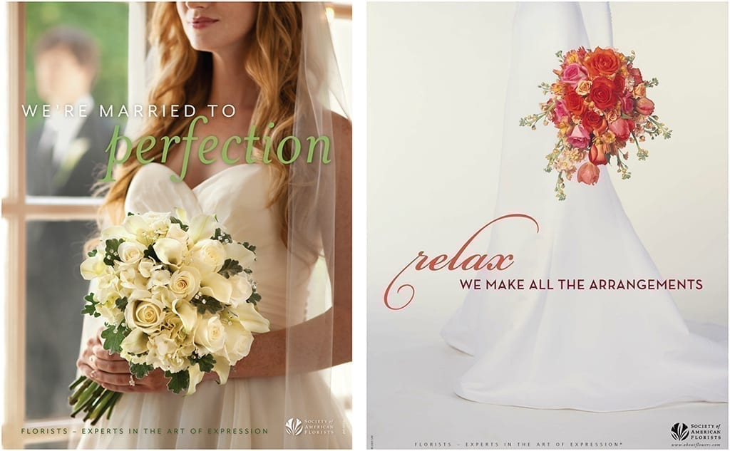 wedding promotion for retail florist for married to perfection