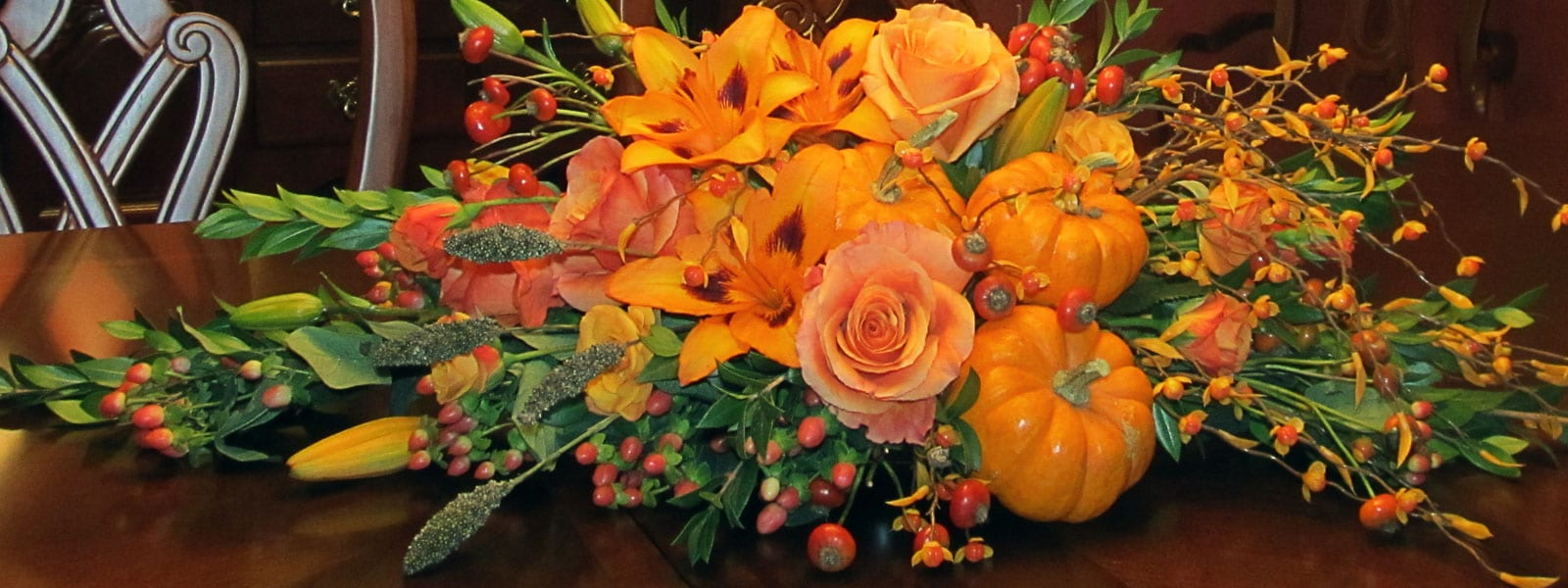 Flowers for the Thanksgiving table